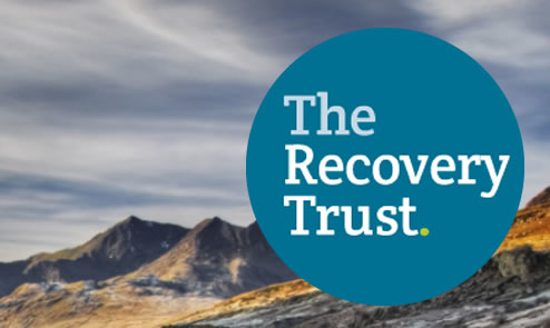 recovery trust logo on mountain background