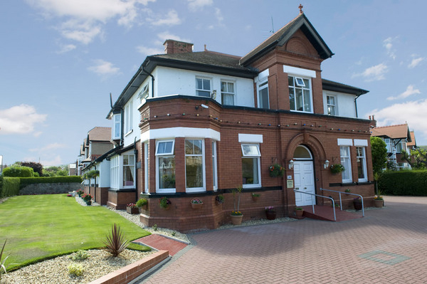 external view of care home in colwyn bay